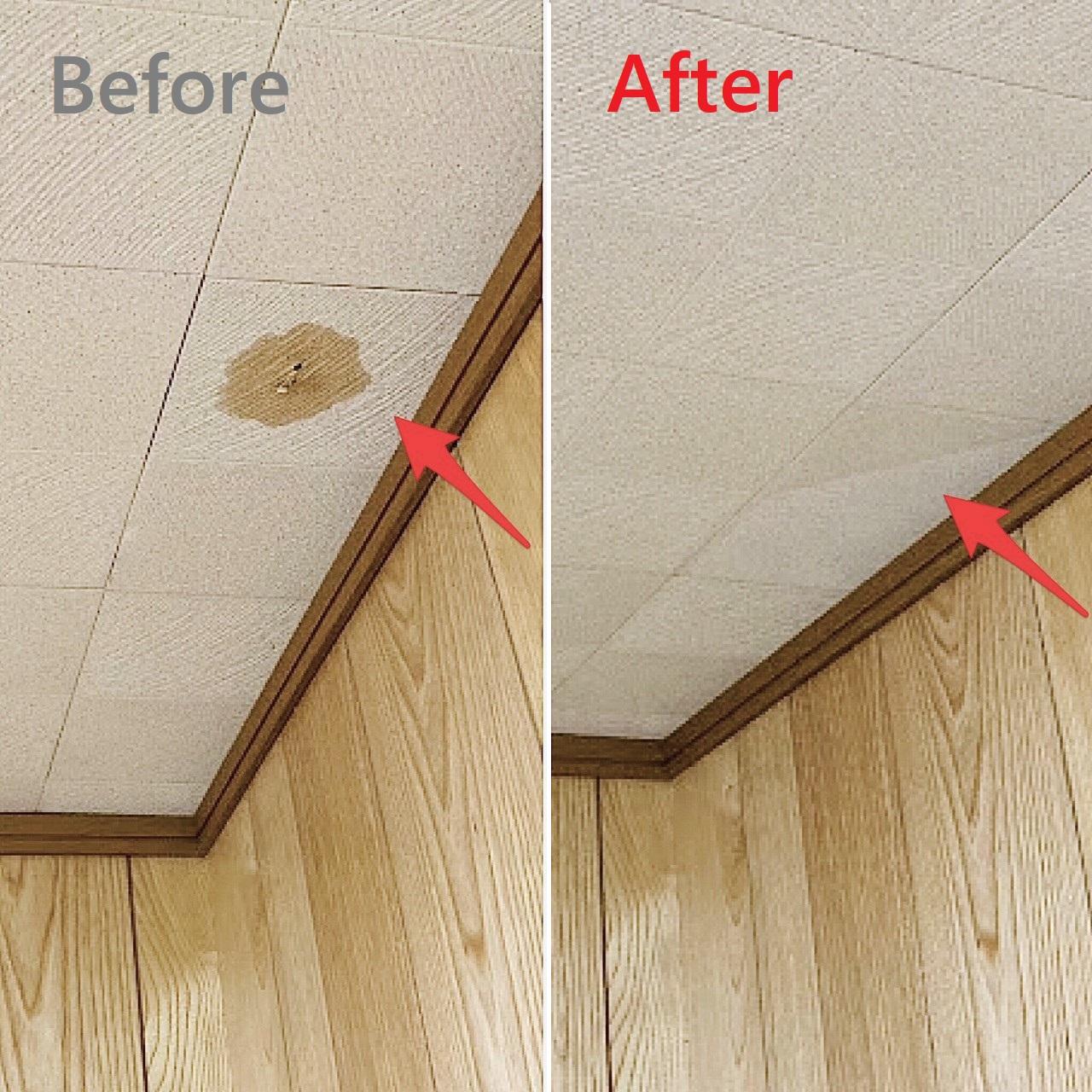 天井のしみ貼替