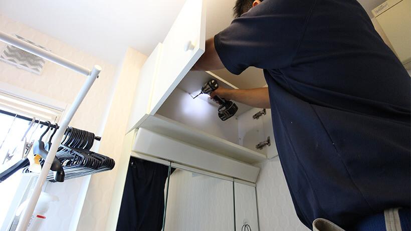 吊戸棚取付修理5
