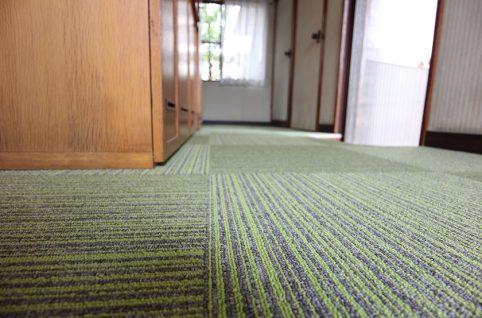 床のたわみ修理&カーペット貼替